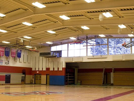 Eckel's Eckoustic Functional Acoustic Metal Panels (EFPs) For Gymnasiums