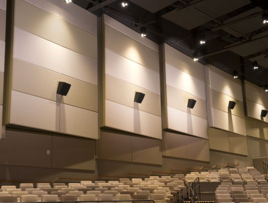 Fabric Wrapped Acoustic Panel in Theaters.
